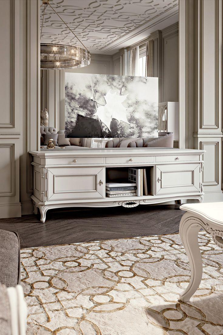 Luxurious Italian Designer Tv Sideboard Juliettes Interiors Luxury Living Room Design Modern Classic Furniture Italian Interior Design