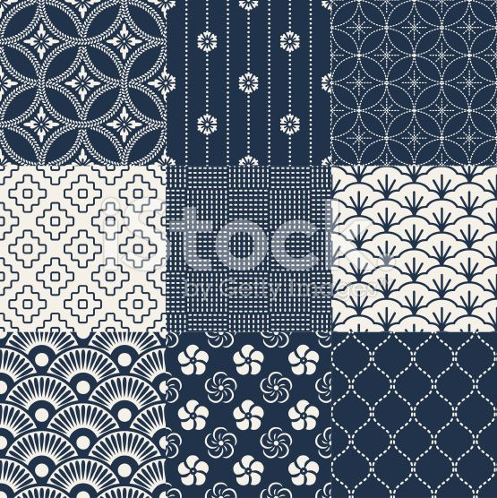 seamless japanese traditional mesh pattern royalty-free stock vector art