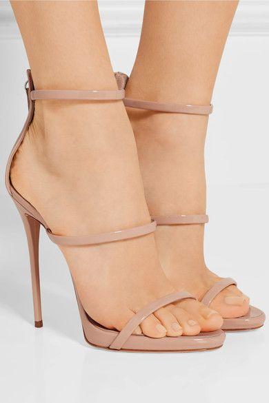 Giuseppe Zanotti - Harmony Patent-leather Sandals - Blush - IT