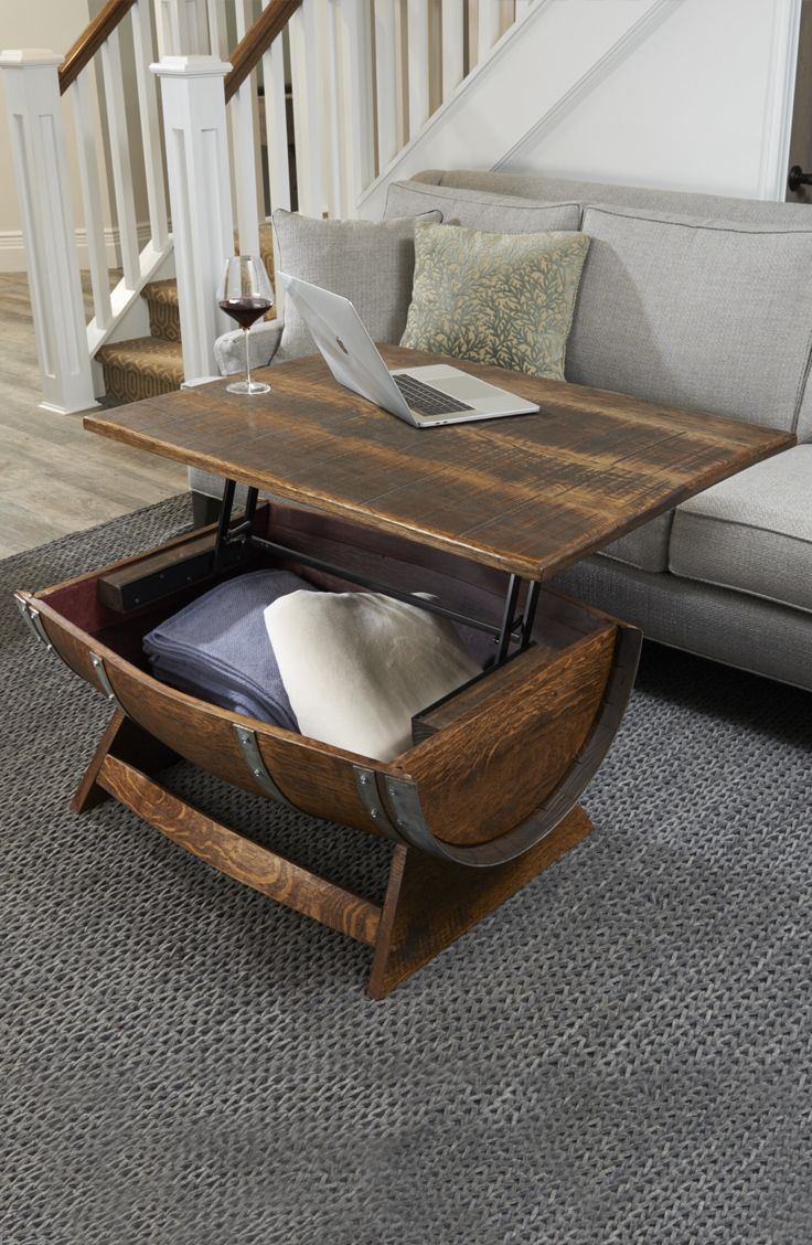 Reclaimed Wine Barrel Coffee Table With
