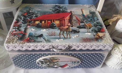 öreg-néne  őzikéje  - karácsonyi  nosztalgia doboz (pozsgigi) - Meska.hu