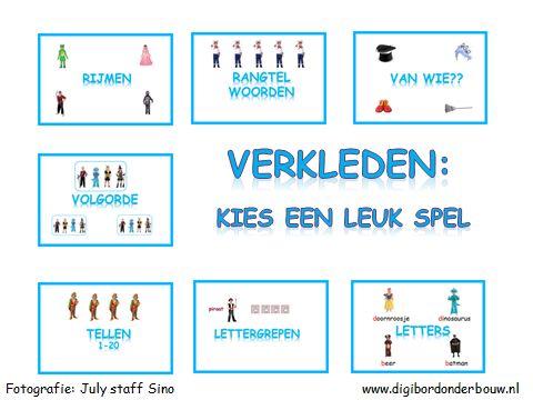 Digibordles over verkleden.Goed te gebruiken bij het thema feest. http://www.digibordonderbouw.nl/index.php/themas/feest/feestdigibordlessen