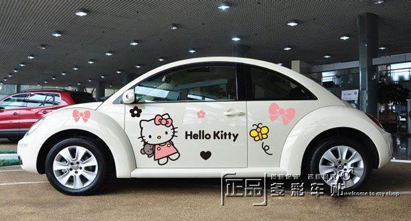 Checkered Flag CAR VINYL SIDE GRAPHICS DECALS For Car Or Truck - Hello kitty custom vinyl decals for car