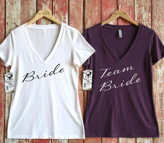 Camisa de la novia. Camiseta de la madrina del equipo. Camisa