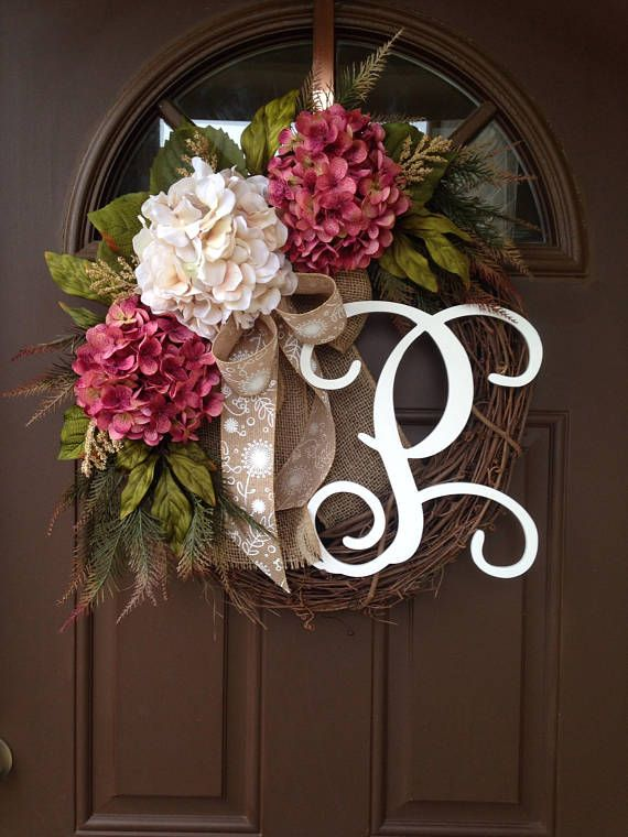 Best 25+ Hydrangea wreath ideas on Pinterest | Initial ...