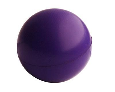 STRESS BALL PURPLE – S8  Price includes 1 color, 1 position print   2 Color imprint available for an additional charge  Decoration option: Pad print  Print Area: 30mm (D)  Product Size: 63mm (D)