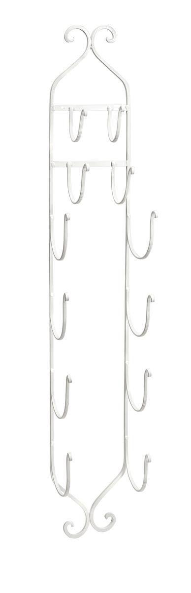 Rustic Metal Storage Rack - White