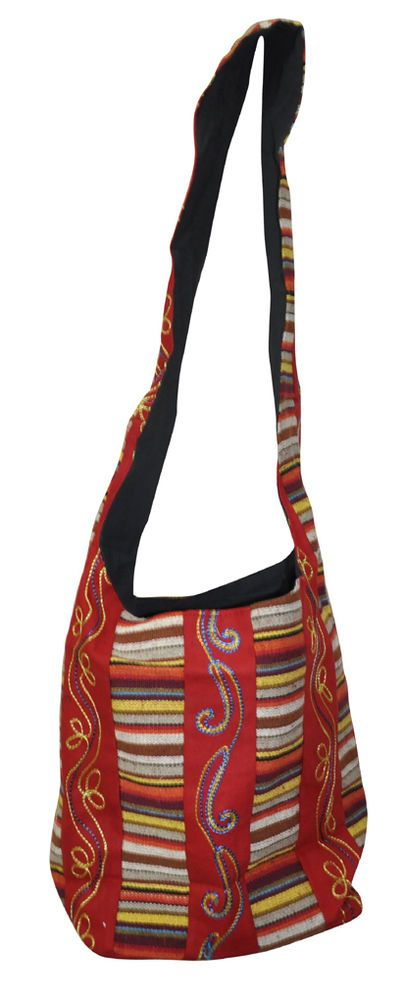 Ethnic Indian Antique Embroidered Cotton Bag Vintage Indian Women's Fashion Bags