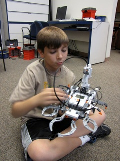 Robotics Level1 ::  All Around Math Learning Center offers a Robotics Camp level 1 for elementary students. Our students are placed at different levels.