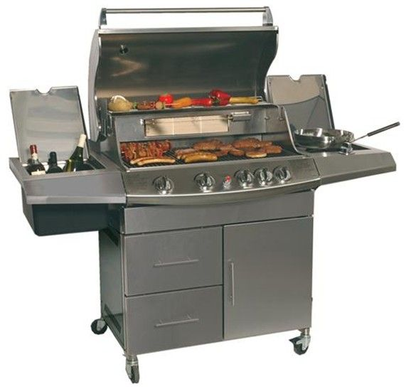 Indoor or outdoor grill and bbq a collection of ideas to for Outdoor kitchen grill insert
