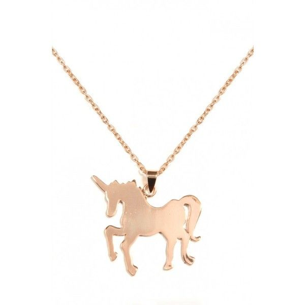 Louche Unicorn Necklace ($18) ❤ liked on Polyvore featuring jewelry, necklaces, louche, golden necklace, unicorn jewelry, unicorn necklace and golden jewelry