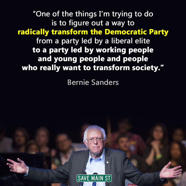 I love you Bernie, but there's no saving the Democratic Party!  Scrap it & start anew!