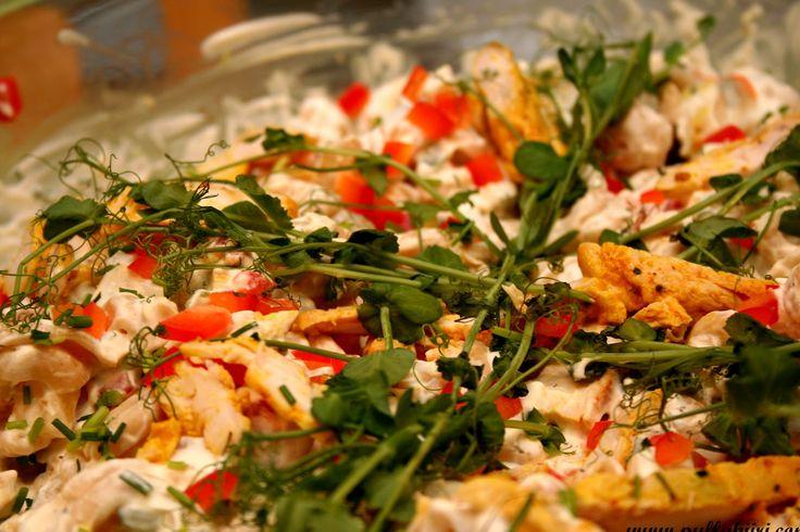 Pullahiiren leivontanurkka: Broileri-pastasalaatti (Fantasiasalaatti)