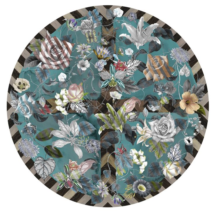 Malmaison Aquamarine - Moooi Carpets * Where I Stand * The Inner Interiorista