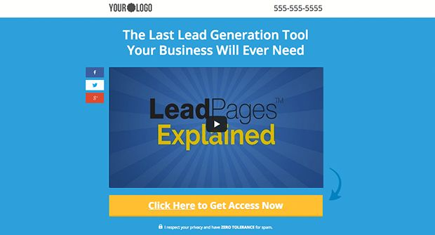 Landing Page Templates from LeadPages