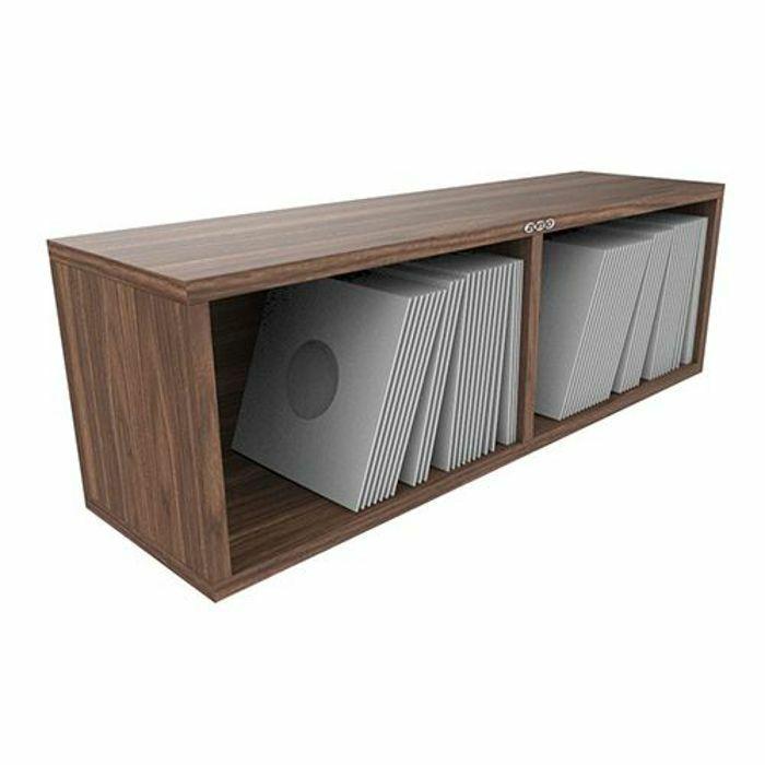 Zomo Vsbox 7 Inch 45 Vinyl Record Storage Box 200 Walnut Flat