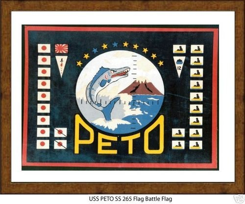 Details about USS PETO SS 265 --WW2 Submarine Battle Flag, US Naval