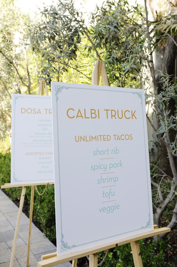 would you do food trucks at your wedding? debatable, but a fun idea for an engagement party or rehearsal dinner
