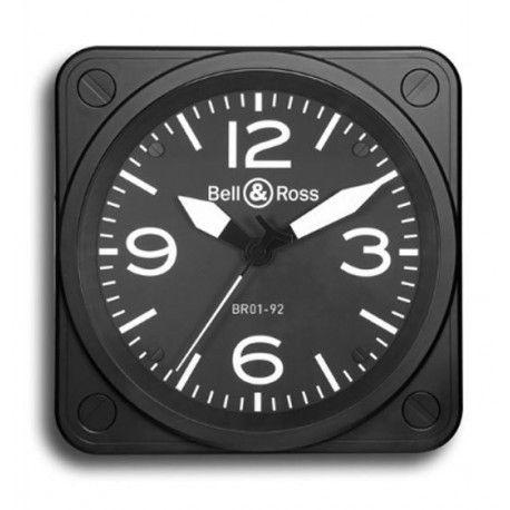 BRClock, une très belle horloge murale ! Boîtier: ABS noir satiné Mouvement quartz, cadran noir, diamètre:50 cm verre minéral