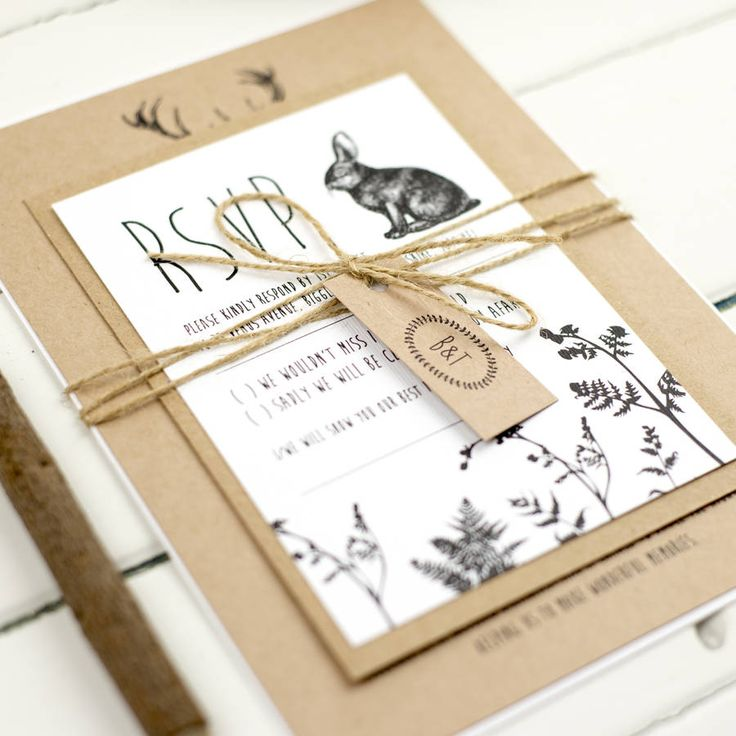 best 25+ forest wedding invitations ideas on pinterest | wood, Wedding invitations