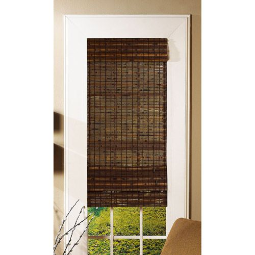 Radiance Bamboo Havana Roman Shade Cocoa Window Treatments The O 39 Jays