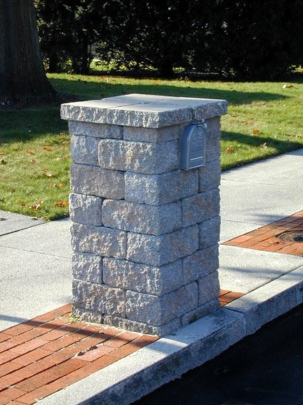 paver block mailbox