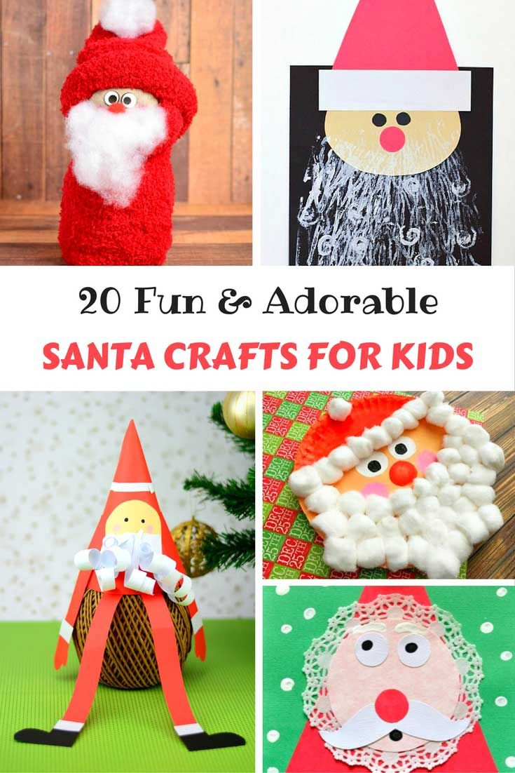 Looking for fun and adorable crafts to do with your kids this Christmas?  Try these 20 Santa Crafts for Kids!  There is something for all ages!