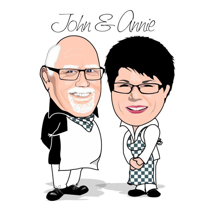 John & Annie Caricature designed by www.willowgraphix.com