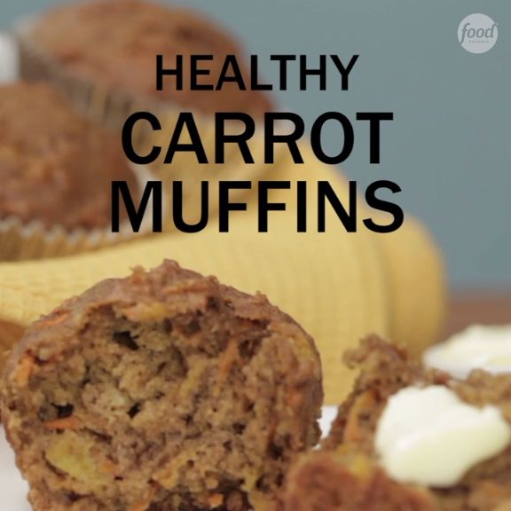 For an on-the-go healthy breakfast that even the kids will love, make a pan of these Carrot Muffins that will last the whole week!