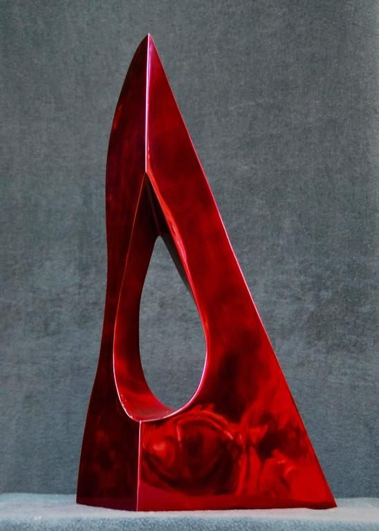 Ultra Red, Italian High Polished Stainless Steel   From a unique collection of abstract sculptures at https://www.1stdibs.com/art/sculptures/abstract-sculptures/