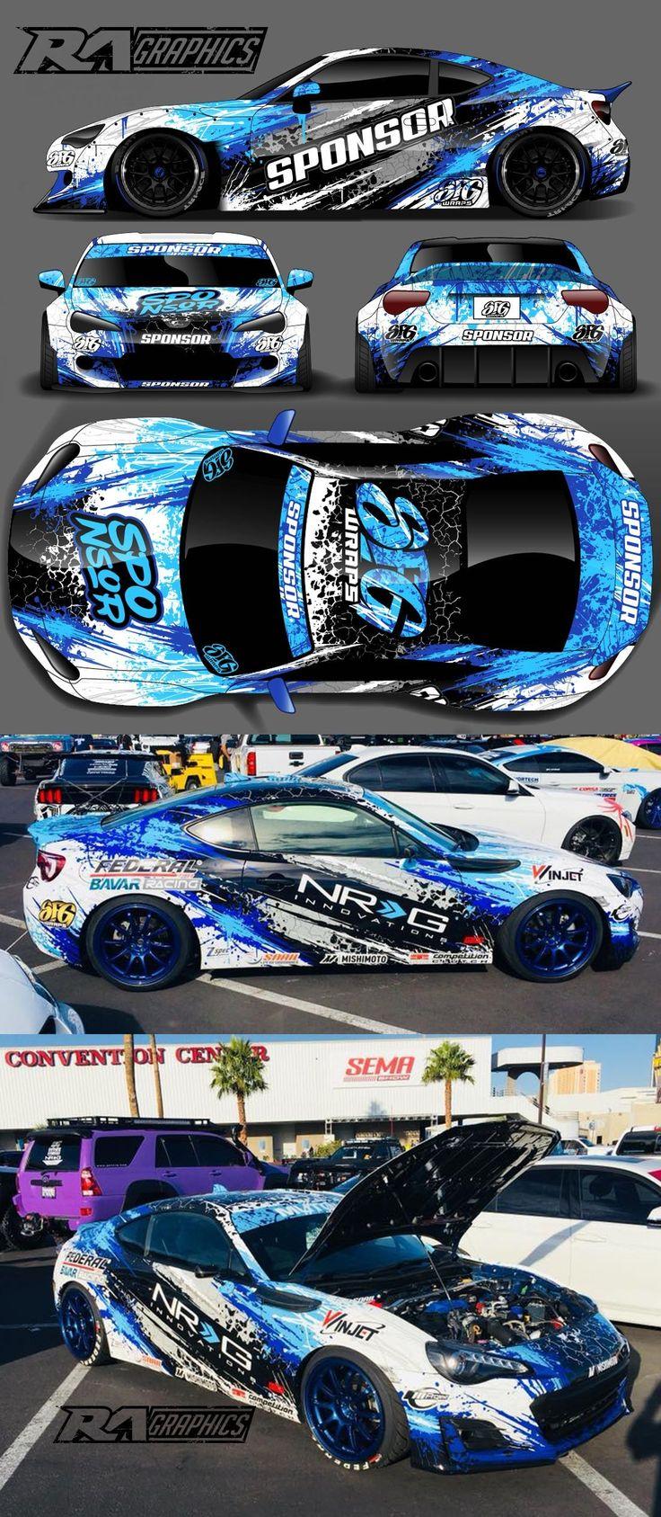 beautiful custom car decal near me Vinyl wrap car, Cars