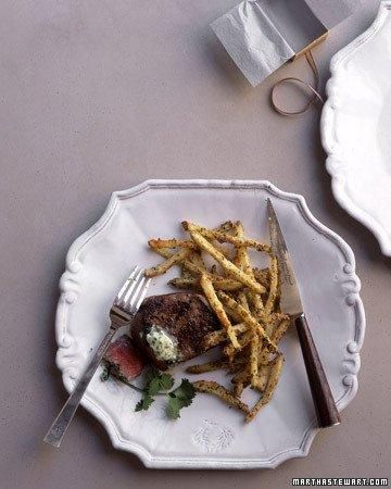 Valentine's Day idea - Filet Mignon with Herb-and-Cheese Potatoes