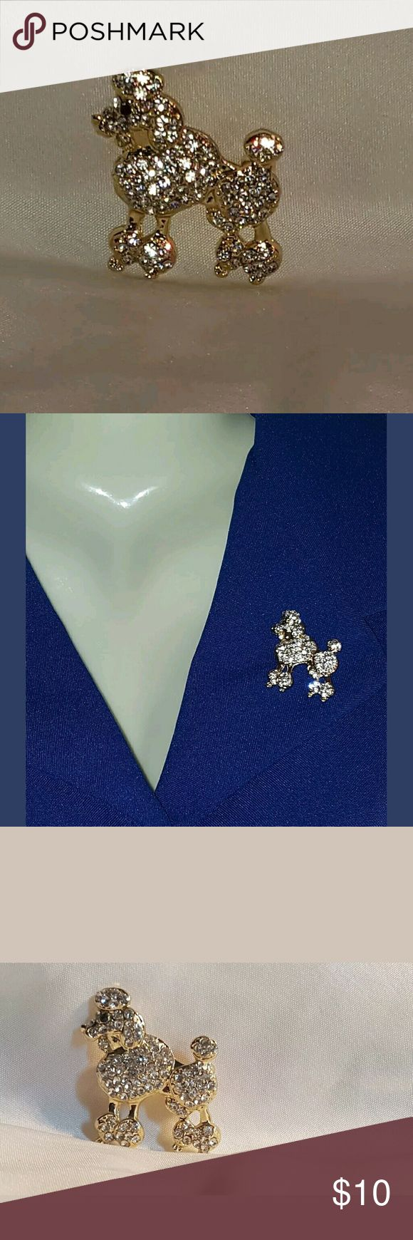 Perfect Poodle Pin/Brooch Great as a gift as official mascot of Sigma Gamma Rho Sorority and a Dog (Poodle) lover..  Looking for a specific Pin? Ask me About it? Jewelry Brooches