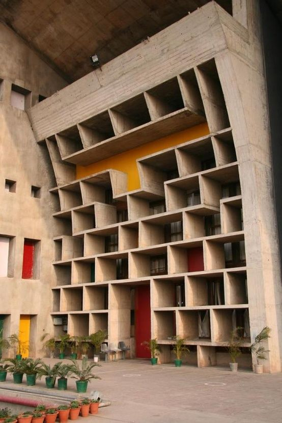 The Palace of Justice In Chandigarh, India By Corbusier