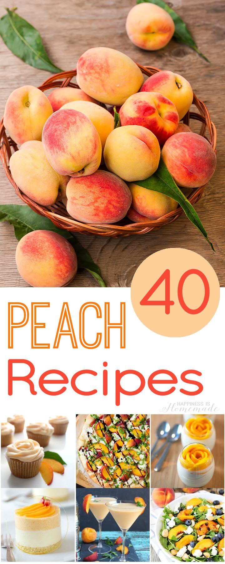 I can't wait to try some of these delicious peach recipes! 40 must-try summer peach recipes that ALL look incredible!