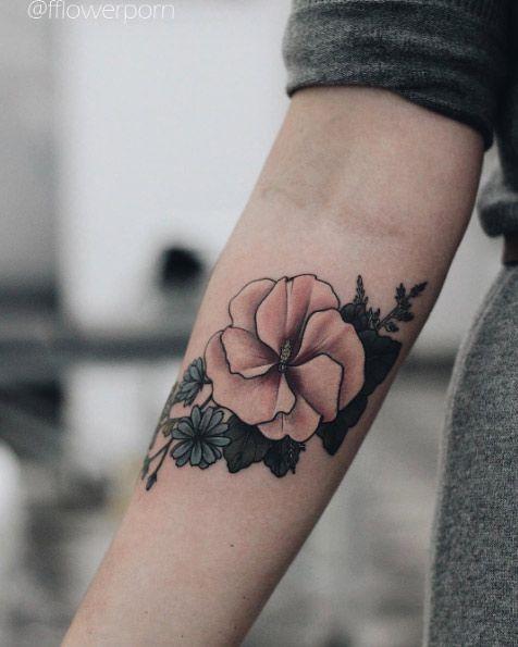 Hibiscus Tattoo by Olga Nekrasova