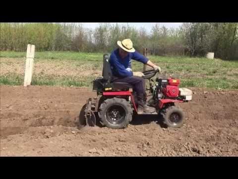 Минитрактор посадка картофеля