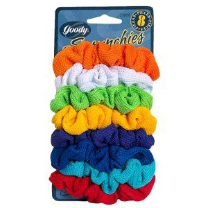 "Goody Scrunchies, Assorted Colors 1 pack by Goody Ouchless. $8.99. Pack of one. Goody Ouchless is a line of gentle and comfortable accessories that are ""metal free inchesto minimize snags and reduce breakage."