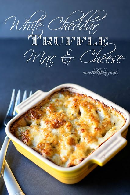 A recipe for White Cheddar Truffle Mac and Cheese that will change the way you will look at your favorite comfort food!  www.thekitchenwife.net