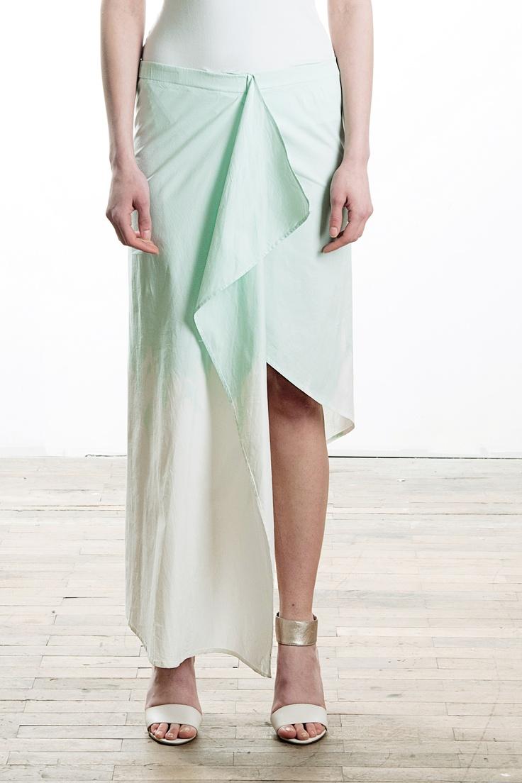 assymetrical hand-dyed maxiskirt, spring / summer 2013