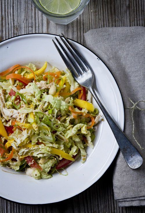 A perfect Chinese Chicken Salad recipe. Yum, a favorite.