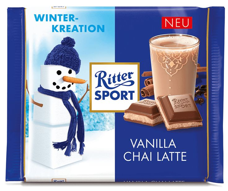 RITTER SPORT Winterkreation Vanilla Chai Latte (2015) #schokolade