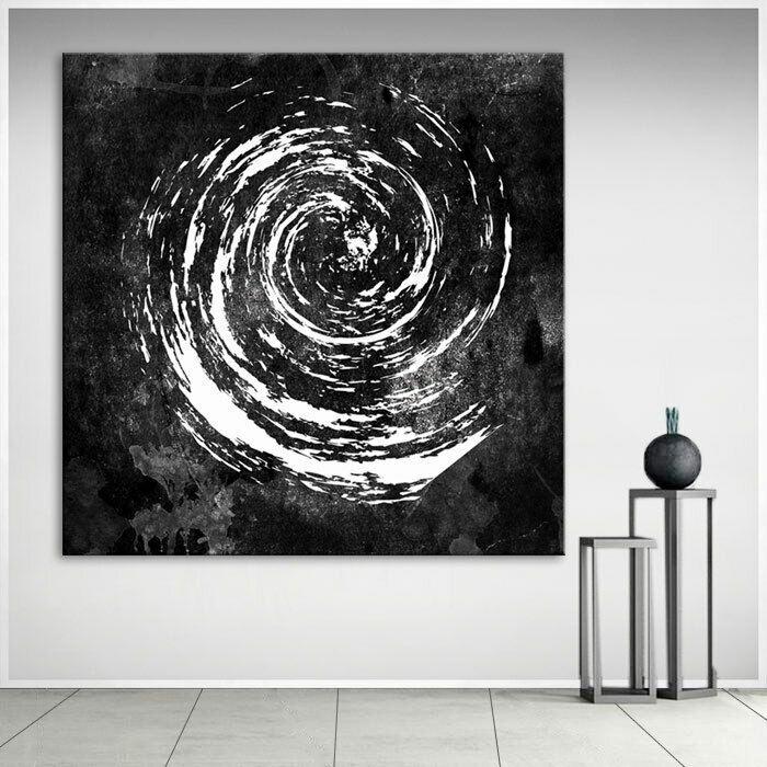 bild schwarz weiss kreise leinwand abstrakte kunst bilder wandbilder d2136 ebay in 2021 abstrakt für wohnzimmer moderne malen