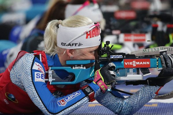 Kaisa Makarainen of Finland competes in the Woman 10km Pursuit during the BMW IBU World Cup Biathlon 2017 - test event for PyeongChang 2018 Winter Olympic Games at Alpensia Biathlon Centre on March 4, 2017 in Pyeongchang-gun, South Korea.