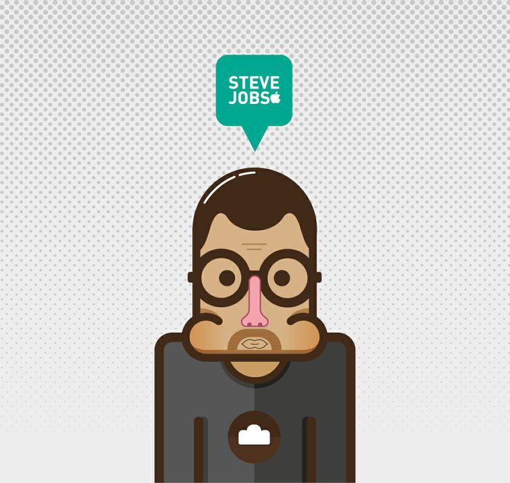 Flat Design Steve Jobs