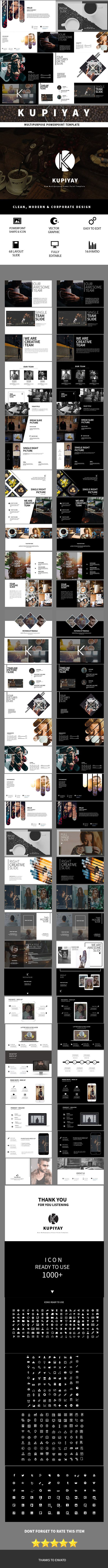 KUPIYAY Clean Multipose Powerpoint Template