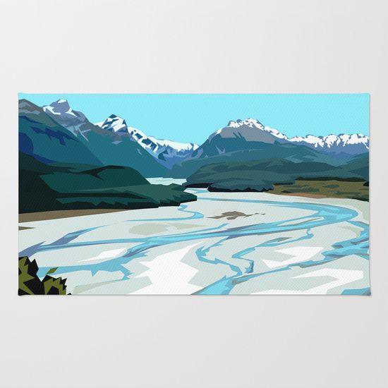 Dart River, NZ http://society6.com/product/dart-river-valley-glenorchy_rug#36=288