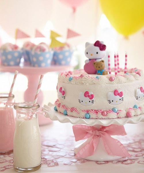 Hello Kitty Party! #cake #sweet #hellokitty #sanrio #cute #kawaii #party