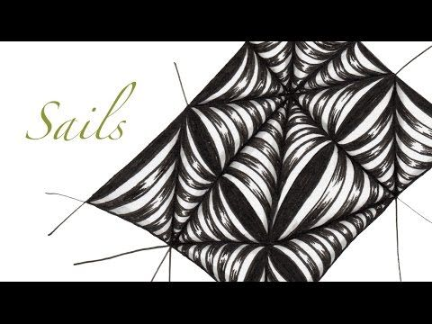 Sails Tangle Pattern Video - www.alittlelime.blogspot.com
