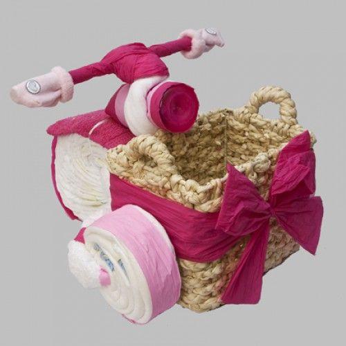Kraamkadootjes | Een Luierfiets met mand zeer tof als cadeau Door JolandaVerhulst1964